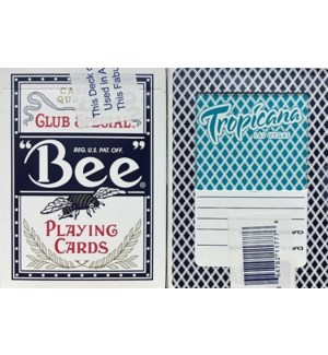 BEE USED CASINO CARD