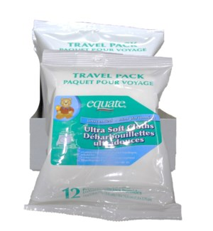 EQUATE #59870 BABY WIPE TRAVEL PACK