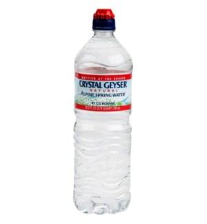 CRYSTAL GEYSER #13031 SPRING WATER W/SPORT CAP