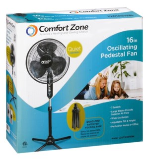 FAN #12733 BLACK QUAD (OSCILLATING)