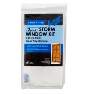 STORM WINDOW KIT CZP712 COMFORT ZONE 1.25MIL THICK
