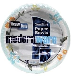 MW #75177 12OZ PAPER BOWLS/MODREN WARE