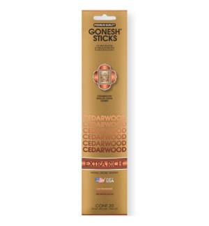 GONESH CEDARWOOD INCENSE STICKS