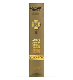 GONESH AMBER INCENSE STICKS