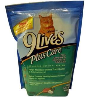 9 LIVES BAG #5257 PLUS CARE/TUNA &EGG