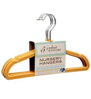 NURSERY HANGERS #127307 VELVET NON SLIP