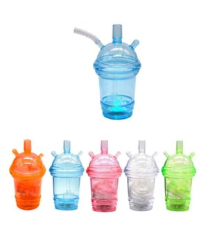 HOOKAH TO GO CUP #17596 RED,GREEN,ORANGE & BLUE