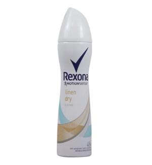 REXONA #77270 LINEN DRY SPRAY DEOD