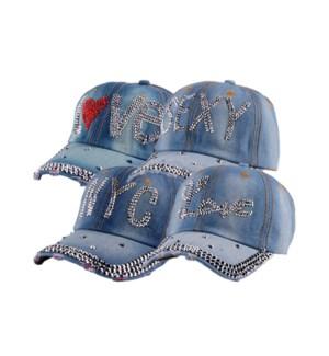 JEAN CAP #11205 W/STONES