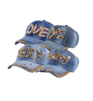JEAN CAP #11206 W/STONES