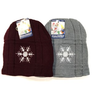 MY #24157 WINTER HAT, SNOWFLAKES
