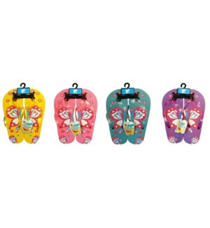 MY #28872 WOMEN'S SLIPPERS, BUTTERFLY PR
