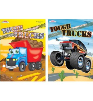 KAPPA #148501 COLORING BOOK/TOUGH TRUCKS