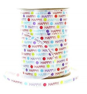 CURLING RIBBON #79737 HAPPY BIRTHDAY PRINTED