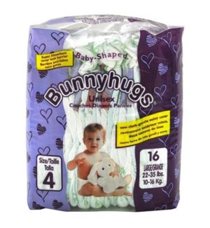 BUNNY HUGS DIAPERS-LARGE #4