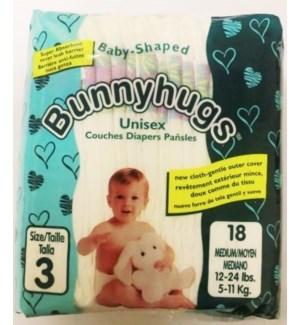 BUNNY HUGS DIAPERS-MEDIUM #3