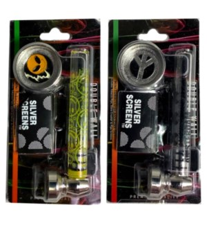 MY #55768 GLASS PIPES SILVER SCREEN
