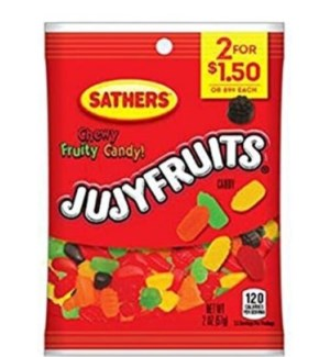 SATHERS JUJYFRUITS #10314 PP2 FOR $1.50
