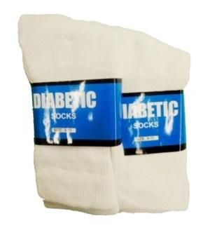 SOCKS DIABETIC CREW WHITE