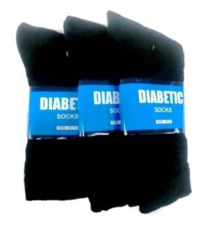 SOCKS DIABETIC CREW BLACK
