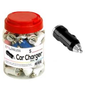 CAR CHARGER #20139 USB MINI CAR CHARGER IN JAR