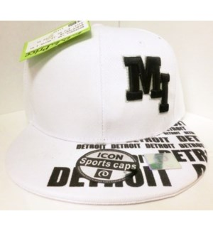 SPORT CAP - WHITE & BLACK /DETROIT MI