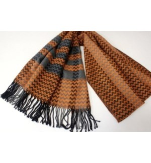 SCARF #AJPW4399OR ORANGE & GRAY STRAPS