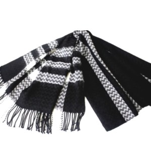 SCARF #AJPW4399BK BLACK & WHITE