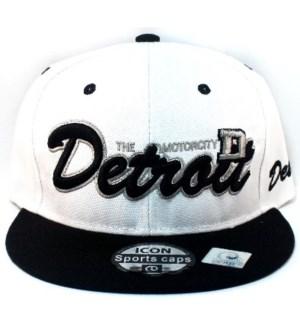 SPORT CAP #116 DETROIT WHITE/BLACK