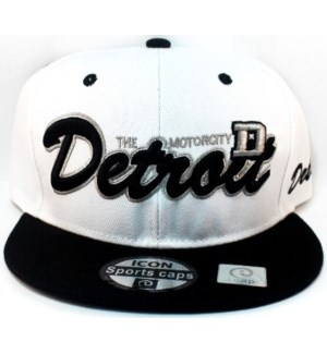 SPORT CAP #144 DETROIT WHITE/BLACK
