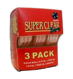 SUPER CLEAR TAPE #34501 W/METAL CUTTER