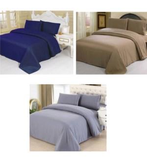 DT LUXURY BAMBOO BED SHEET SET QUEEN/ASST