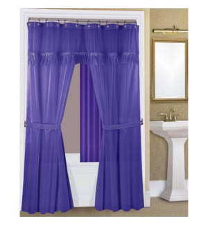 DT SHOWER CURTAIN 18PC DOUBLE SWAG