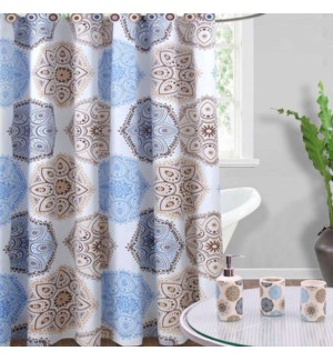 DT SHOWER CURTAIN 16PC CERAMIC SONGS