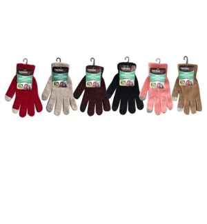 TX #11222 CHENILLE GLOVES W/TOUCH ASST COLORS