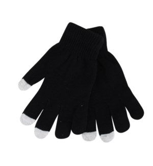 TX #11240 MAGIC GLOVES W/TOUCH BLACK ONLY