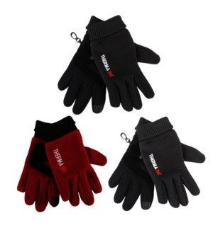 TX #11276 LADIES FLEECE GLOVES LEATHER PALM