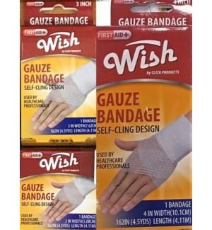 WISH #23104 GAUZE BANDAGE ASST