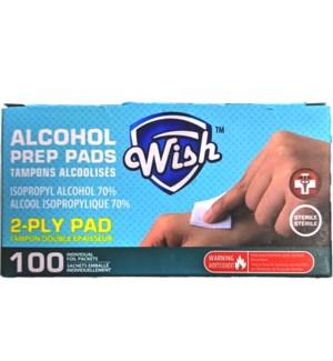 WISH ALCOHOL PADS #23105 PREP PAD