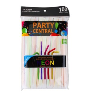 DRINKING STRAW FLEXIBLE #39100 INDIVIDUALLY WRAPPE