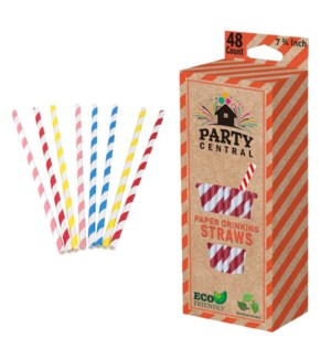 PARTY CENTER #39108 PAPER STRAWS