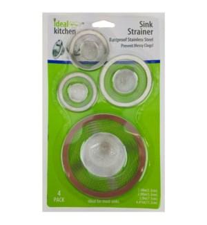 IDEAL KITCHEN #42100 SINK STRAINE STAINLESS STEEL
