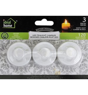 LED TEALIGHT CANDLE #48101 WHITE LIGHT