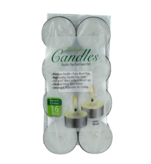 TEALIGHT CANDLES #48203 WHITE