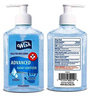WISH #60215 HAND SANITIZER VIT E/W PUMP