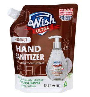 WISH ULTRA #60260 COCONUT HAND SANITIZER