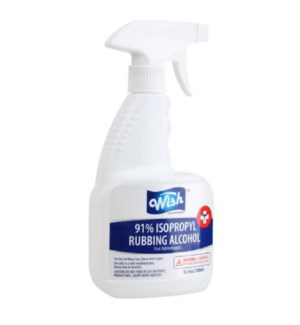 WISH RUBBING ALCOHOL #61330 SPRAY 91%