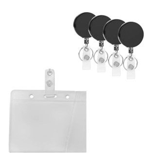 MY SALE ID HOLDER #81026 RECTRACTABLE W/KEY CHAIN