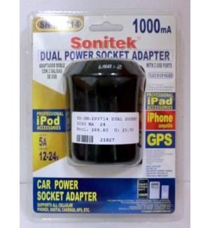 TS*-SN-IP3714 DUAL SOCKET ADAPTER