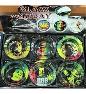 GLASS ASHTRAY #81002 ASSORTED